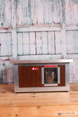 "INFRA HEATED Thermo WOODY Cat house ""CAT"" insize (LxWxH:54x38x28cm)"